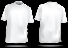 Shirtschablone mit Frontseite und Rückseite Lizenzfreie Stockfotos