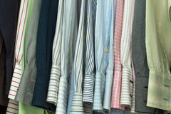 Shirtsleeves In A Closet Royalty Free Stock Photos