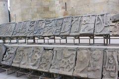 _ _ Shirvanshahs gravvalv i den gamla staden Royaltyfria Foton