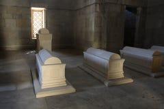 _ _ Shirvanshahs gravvalv i den gamla staden Royaltyfria Bilder