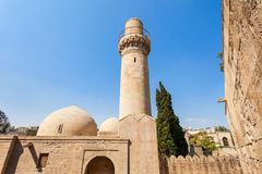 Shirvanshahs slott i Baku Arkivfoto