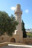 _ _ Shirvanshahs slott och minaret i den gamla staden Fotografering för Bildbyråer