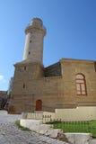 _ _ Shirvanshahs slott och minaret i den gamla staden Royaltyfri Foto
