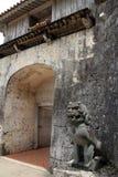 Shisa guardian in Shuri castle, Naha, Okinawa. Japan Royalty Free Stock Images