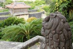 Shisa guardian in Shuri castle, Naha, Okinawa. Japan Stock Images