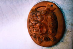 Shisa Lion charm plate Stock Images