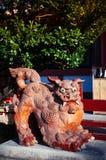 Shisa Okinawan lion statues, used as talisman or guardian at shrine and house. Shisa Okinawan lion statues, used as talisman or guardian angel at shrine and stock image