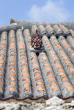 Shisa Statue on a Rooftop in Japan Stock Image