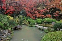 Shisen-do garden of fall season stock photography