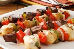 shish диска kebabs Стоковые Фотографии RF