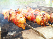 shish подготовки kebab Стоковые Фото
