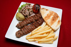 Shish Kabab. Lebanese and Middle Eastern food Stock Photography