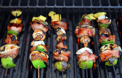 Shish Kabob op de Barbecue Royalty-vrije Stock Foto