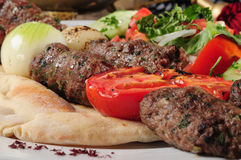 Shish kafta Royalty Free Stock Photos