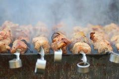 Shish kebab στη σχάρα Στοκ φωτογραφία με δικαίωμα ελεύθερης χρήσης