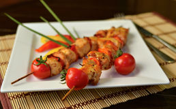 shish kebab цыпленка Стоковые Фото