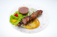Shish kebab Stockbild