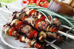 Shish kebab royalty free stock image