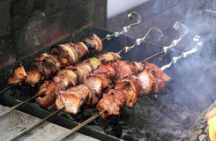 Shish kebab Royalty-vrije Stock Foto