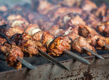 Shish kebab. Of the pork with the mix of spices Royalty Free Stock Photo