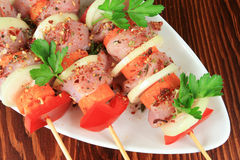 Shish kebab Stockfotos
