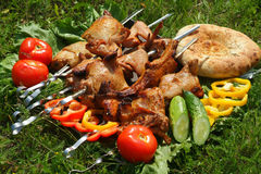 Shish kebab Lizenzfreie Stockfotos