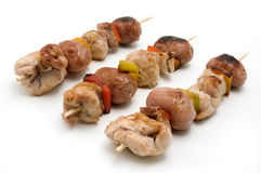 Shish Kebab. S on a white background Royalty Free Stock Images