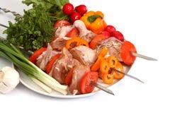 shish kebab apetycznie Fotografia Royalty Free