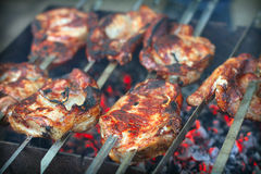 Shish kebab Stock Photos