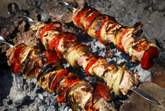 Shish kebab - barbecue  Stock Image