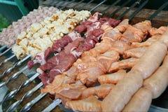Shish kebab on braizer Stock Photos