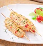 Shish kebab of chicken Royalty Free Stock Image