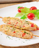 Shish kebab of chicken Royalty Free Stock Images
