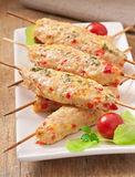 Shish kebab of chicken Stock Photography