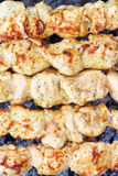 Shish kebab close-up. Stock Photos