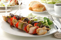 Shish kebab dinner Royalty Free Stock Images