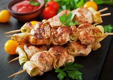 shish kebab kurczaka zdjęcia royalty free