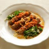 Shish kebab, lebanese cuisine. Royalty Free Stock Images