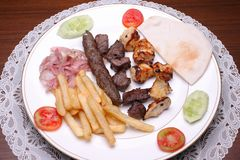 Shish kebab, lebanese cuisine. Stock Photography