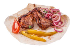 Shish kebab from mutton Royalty Free Stock Photos