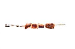 Shish kebab na brązowniku Fotografia Royalty Free