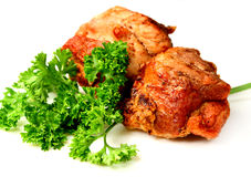 Shish kebab from pork Royalty Free Stock Photography