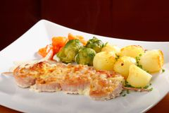 Shish kebab with pork Royalty Free Stock Photo