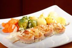 Shish kebab with pork Royalty Free Stock Images