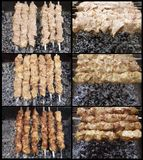 Shish kebab preparation Stock Images