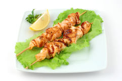 Shish kebab from a salmon Stock Images