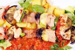 Shish kebab on skewers Stock Image