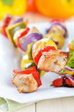 Shish kebab skewers Fotografia Royalty Free