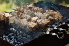 Shish kebab on skewers Royalty Free Stock Images