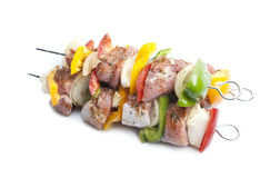Shish kebab on skewers Royalty Free Stock Photography